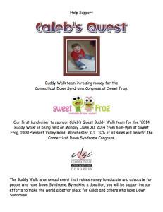 FBSweet Frog - Calebs Quest Buddy Walk 2014